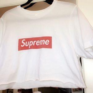 df22418cea488d Supreme Tops | White Crop Top | Poshmark